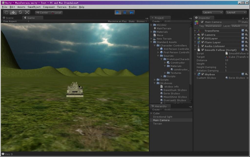 Unity3d testing (on) - htttw column Blog Channel - PROG3 COM